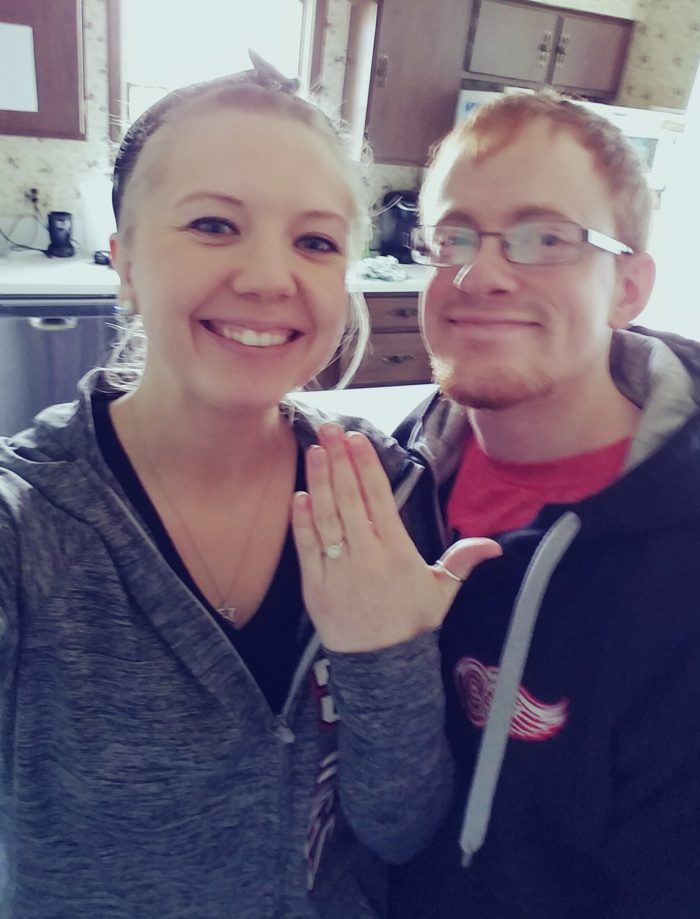 Katie and Jarrid's Engagement in Our new home!