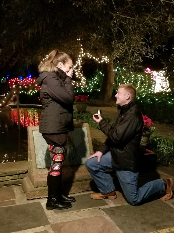 Coral's Proposal in Bellingrath Gardens - Mobile, AL