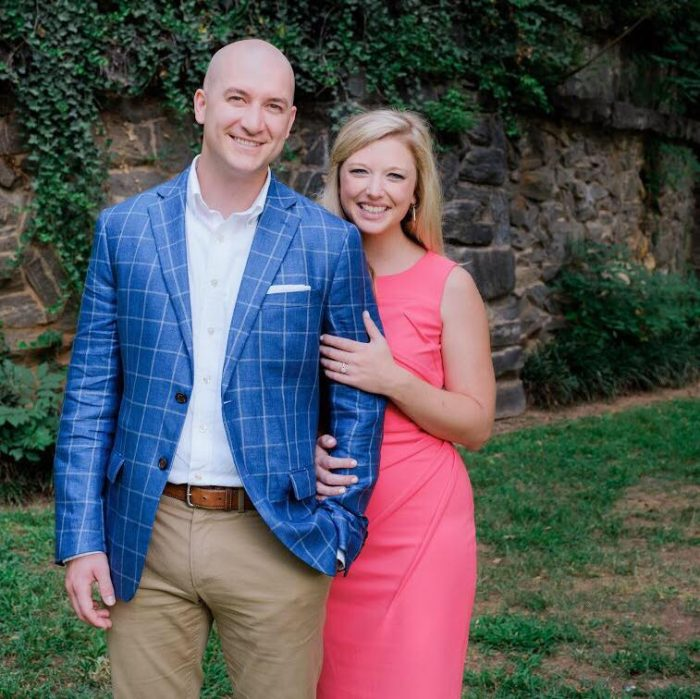 Payton and Josh's Engagement in Peabody Hotel Rooftop in Memphis, TN