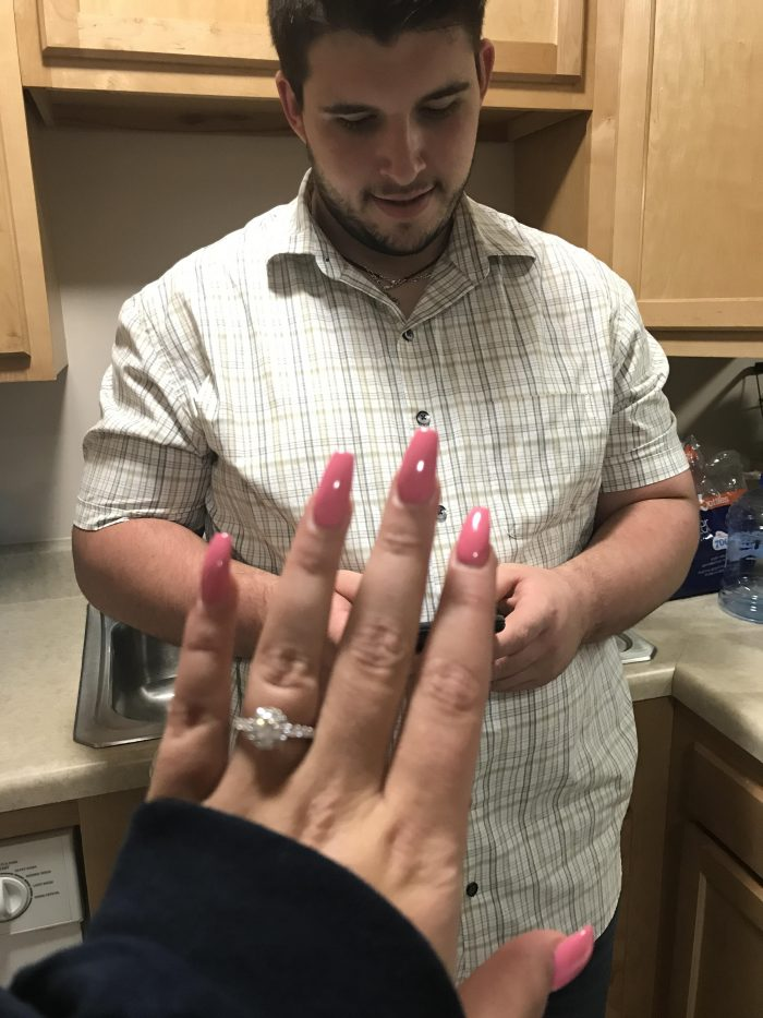Marriage Proposal Ideas in In the living room of our apartment!