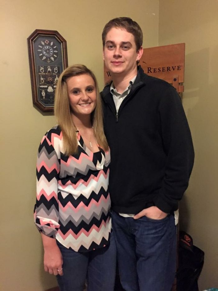 Ashley and Brandon's Engagement in At the school I work at.