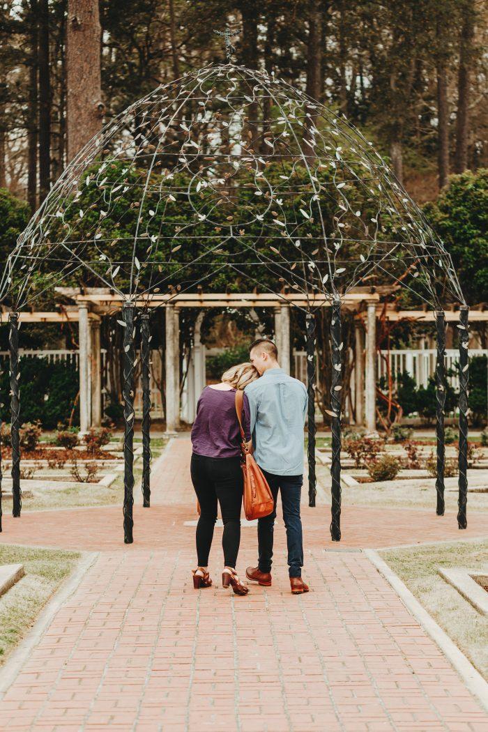Emma and Jake's Engagement in Birmingham Botanical Gardens, Birmingham, AL