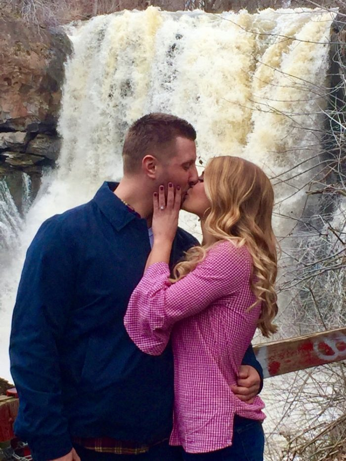 Paige and Brandon's Engagement in Akron Falls NY