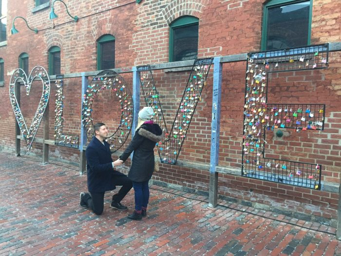 Wedding Proposal Ideas in Distillery District Toronto