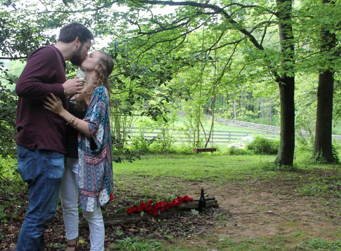 Engagement Proposal Ideas in His parent's home he grew up in