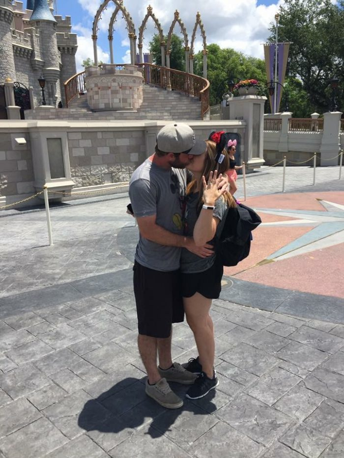 Where to Propose in Disney world in front of Cinderella's castle