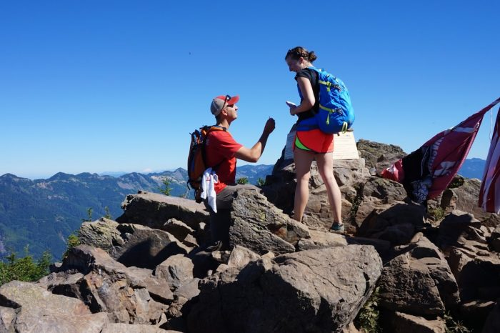 Wedding Proposal Ideas in Mailbox Peak