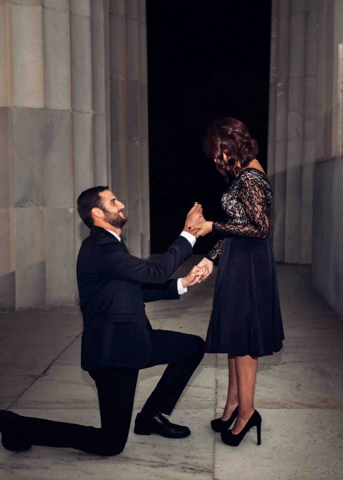 Engagement Proposal Ideas in Lincoln Monument Washington DC