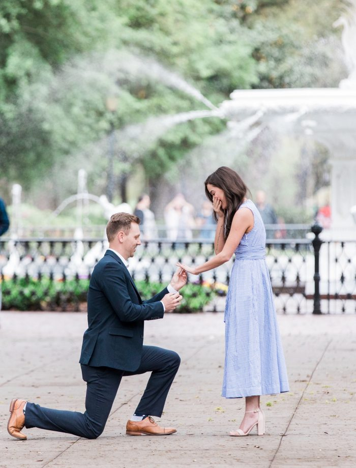 Madison and Justin's Engagement in Savannah, GA