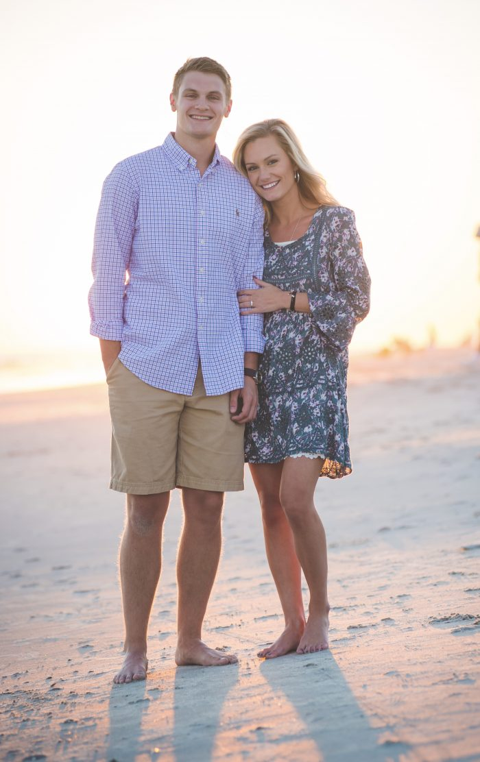 Sarah and Tyler's Engagement in Holden Beach, NC