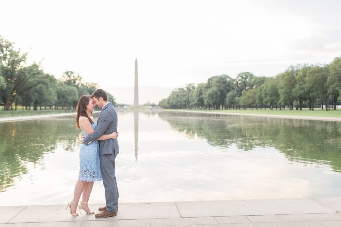Engagement Proposal Ideas in the washington monument