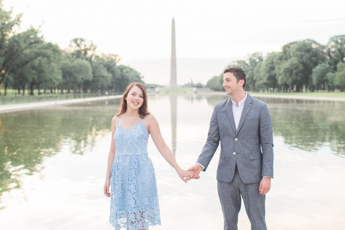 Alexandra's Proposal in the washington monument
