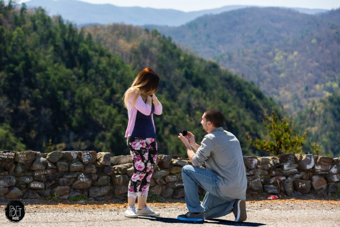 Janelle's Proposal in The Tail of the Dragon Scenic Lookout