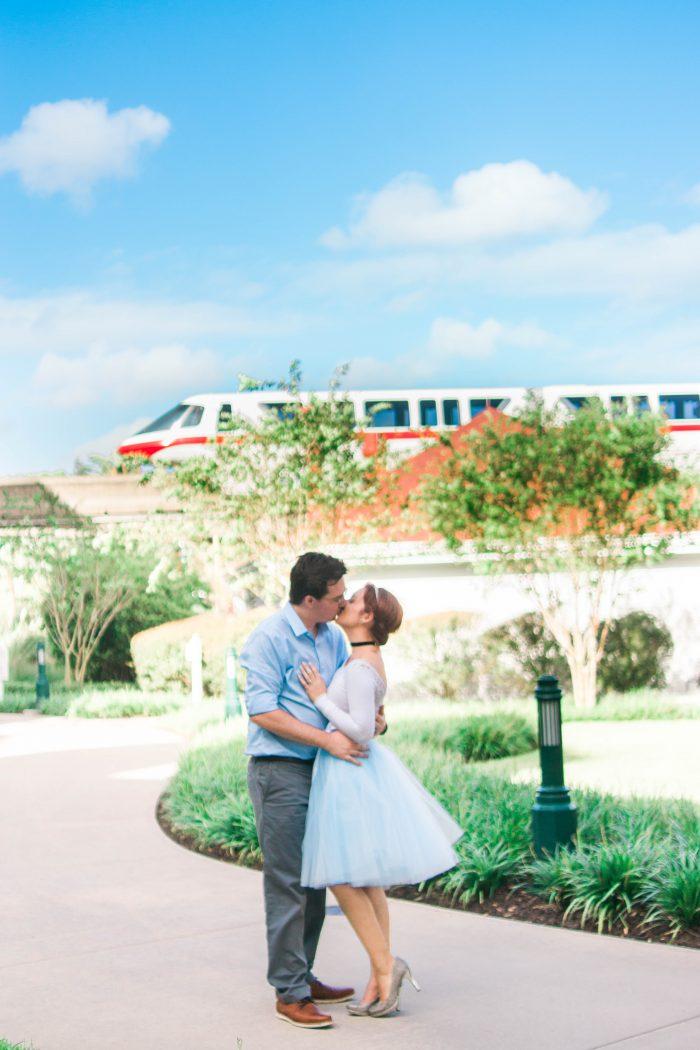 Stephanie and Matthew's Engagement in Walt Disney World - Magic Kingdom