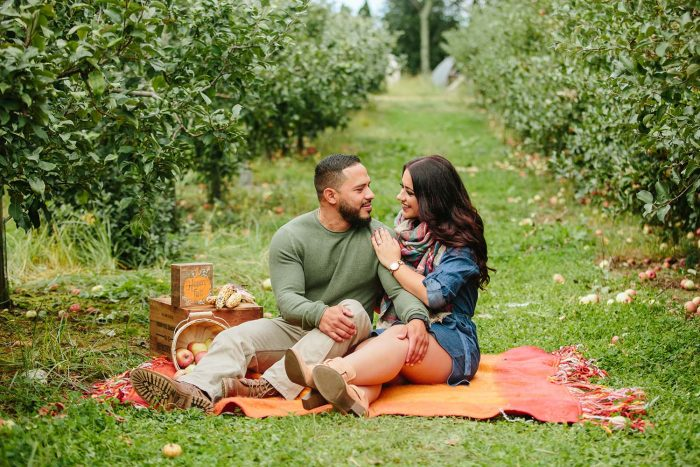 Where to Propose in Apple orchard