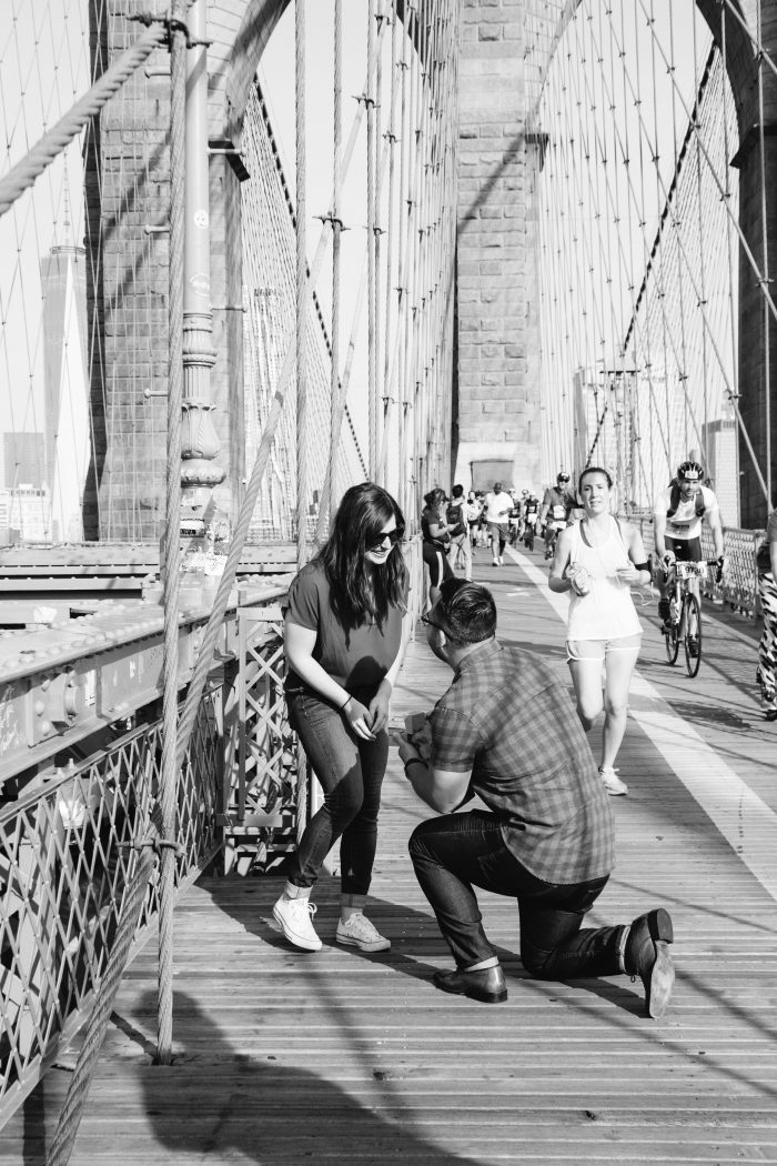 Marriage Proposal Ideas in Brooklyn Bridge, New York City