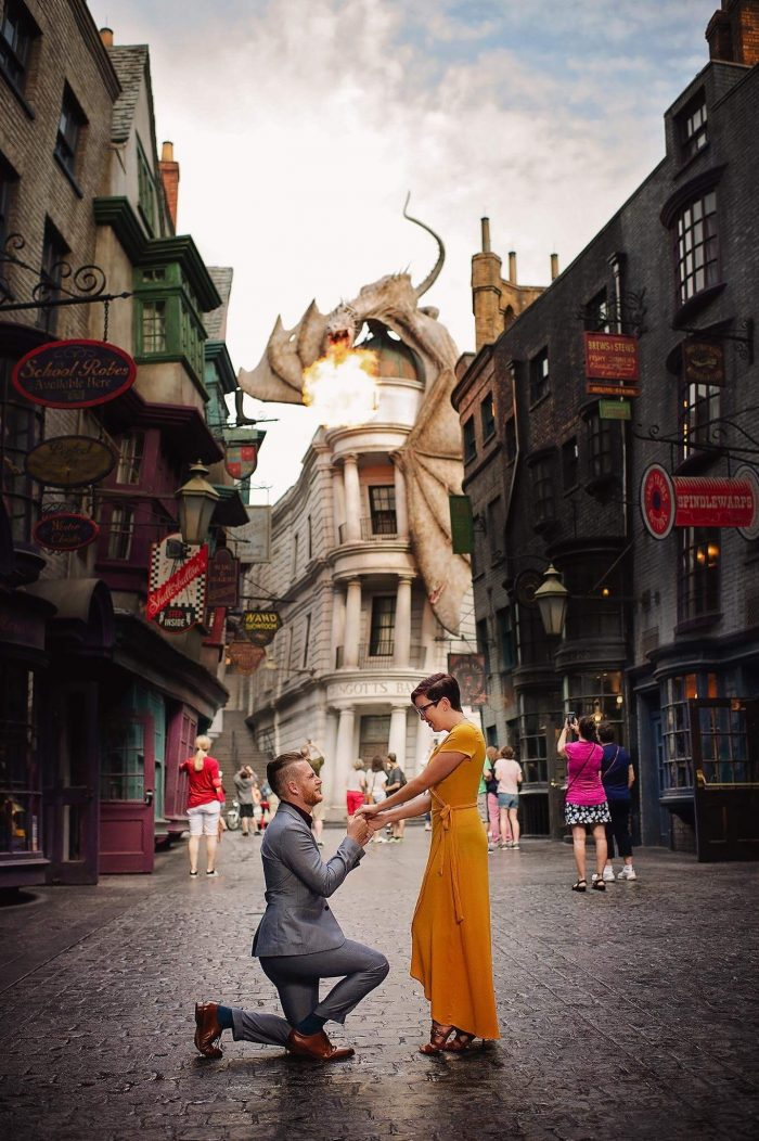 Engagement Proposal Ideas in Harry Potter world