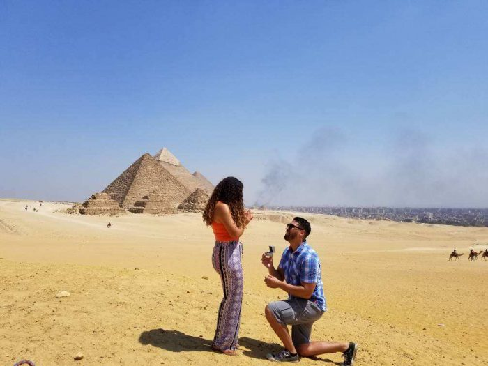 Yvette and Israel's Engagement in Cairo, Egypt