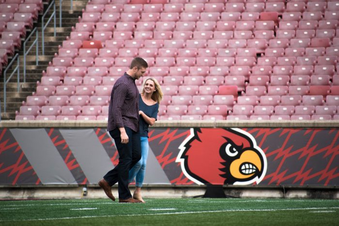 Wedding Proposal Ideas in Louisville, Kentucy; Papa Johns Cardinal Stadium
