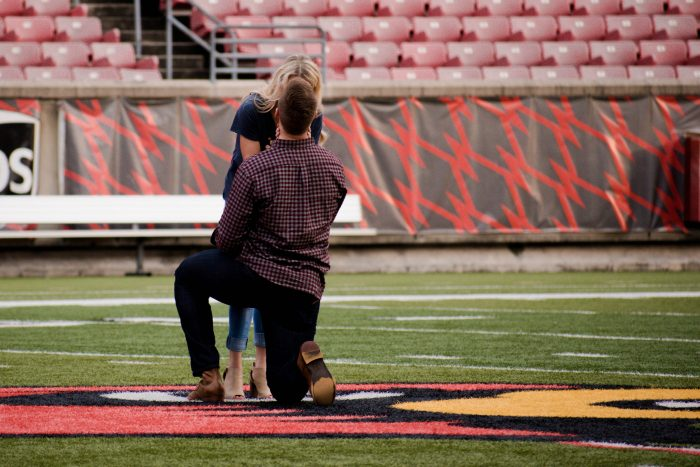Marriage Proposal Ideas in Louisville, Kentucy; Papa Johns Cardinal Stadium
