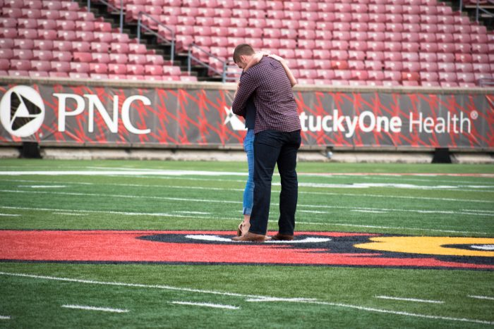 Lauren and Colin's Engagement in Louisville, Kentucy; Papa Johns Cardinal Stadium