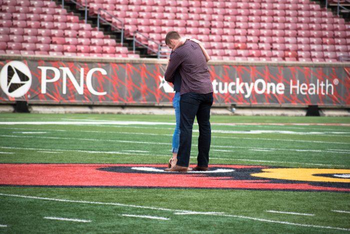 Lauren and Colin's Engagement in Louisville, Kentucy; Papa Johns Cardinal Stadium