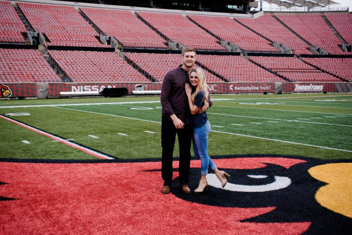 Lauren's Proposal in Louisville, Kentucy; Papa Johns Cardinal Stadium
