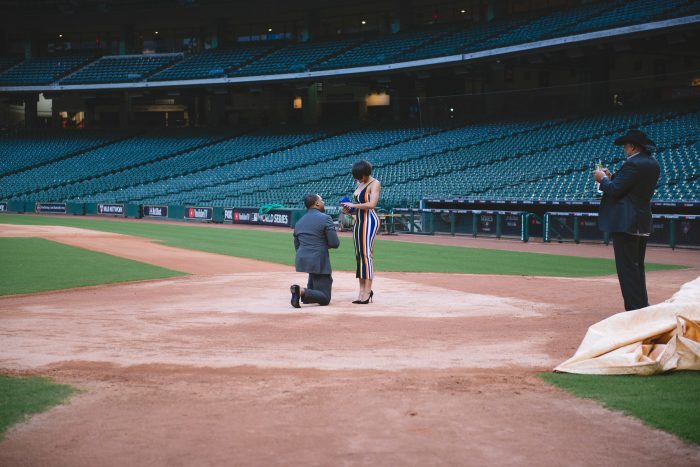 Engagement Proposal Ideas in Minute Maid Stadium