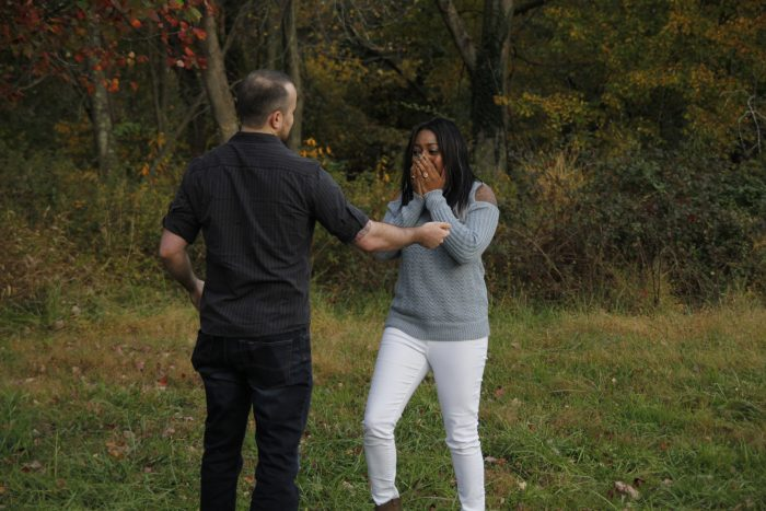 Jalisa and Jonathan's Engagement in Jerusalem Mill Village - Kingsville, MD