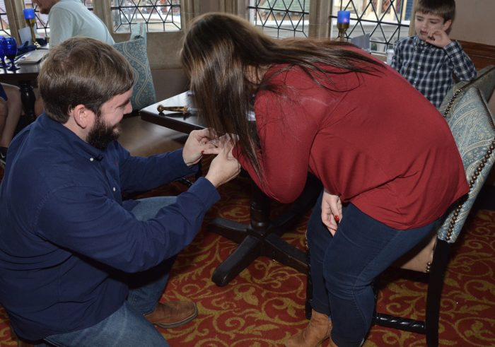 Where to Propose in Inside Cinderella's castle at Disney world