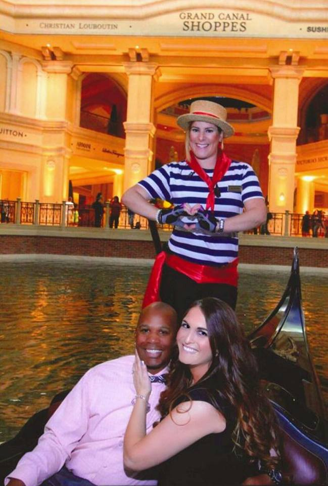 Courtney and Cameron's Engagement in The Gondolas at the Venetian Hotel in Las Vegas