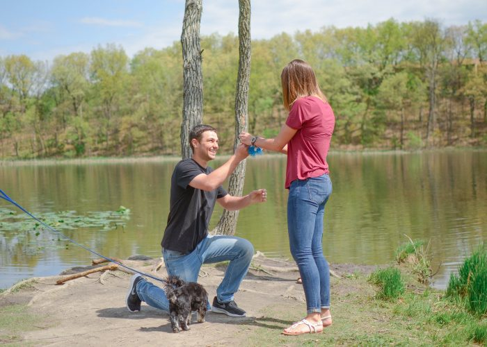 Shannon's Proposal in Asylum Lake Preserve