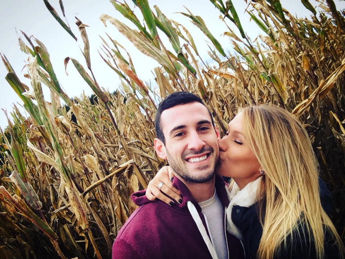Emily and DJ's Engagement in Stepuk Tree Farm - Canfield, OH