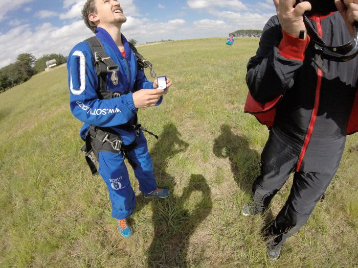 Marriage Proposal Ideas in At Skydive on the Vaal