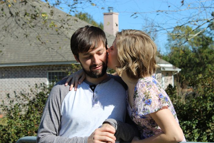 Kelsey and Richard's Engagement in Keg and Barrel in Hattiesburg, MS