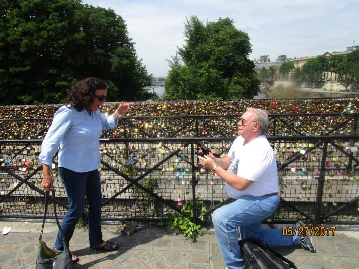 Where to Propose in Paris, at the wall of locks