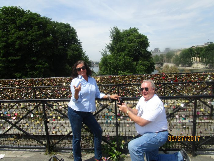 Wedding Proposal Ideas in Paris, at the wall of locks