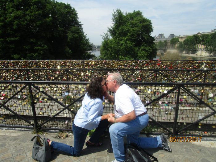 Marriage Proposal Ideas in Paris, at the wall of locks