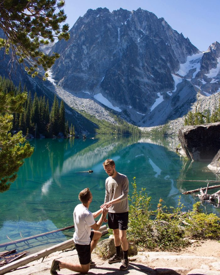 Engagement Proposal Ideas in Lake Colchuck, Seattle