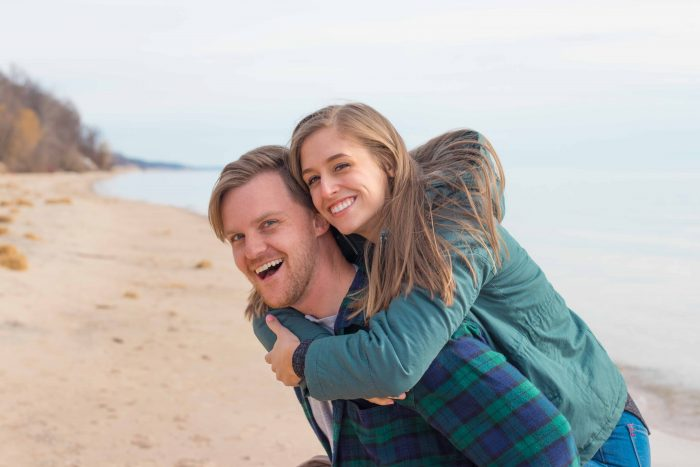 Marriage Proposal Ideas in Lake Michigan, near Grand Haven, Michigan