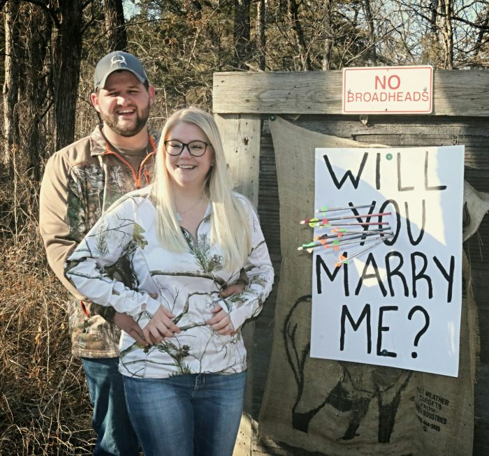 Where to Propose in At an archery range