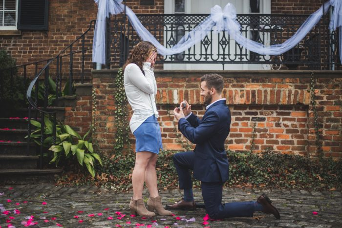 Marlee's Proposal in Founder's Memorial Garden at the University of Georgia