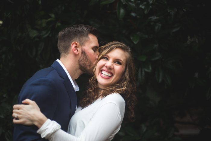 Marlee and Kody's Engagement in Founder's Memorial Garden at the University of Georgia