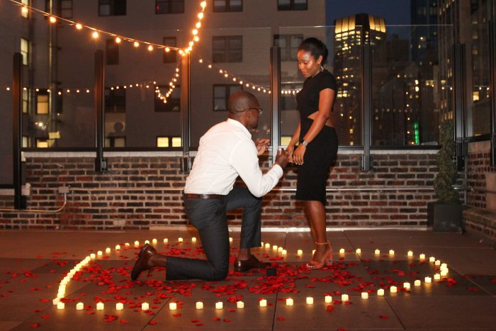 Wedding Proposal Ideas in Rooftop in New York