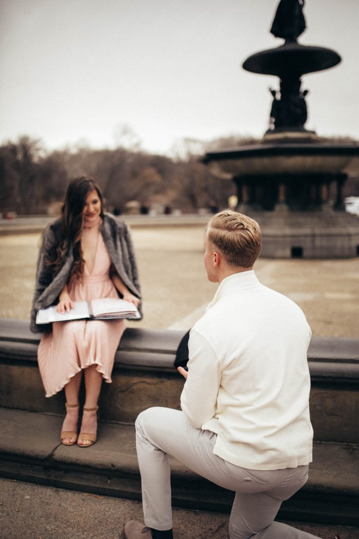 Sarah's Proposal in Bethesda Terrace in Central Park, NY, NY