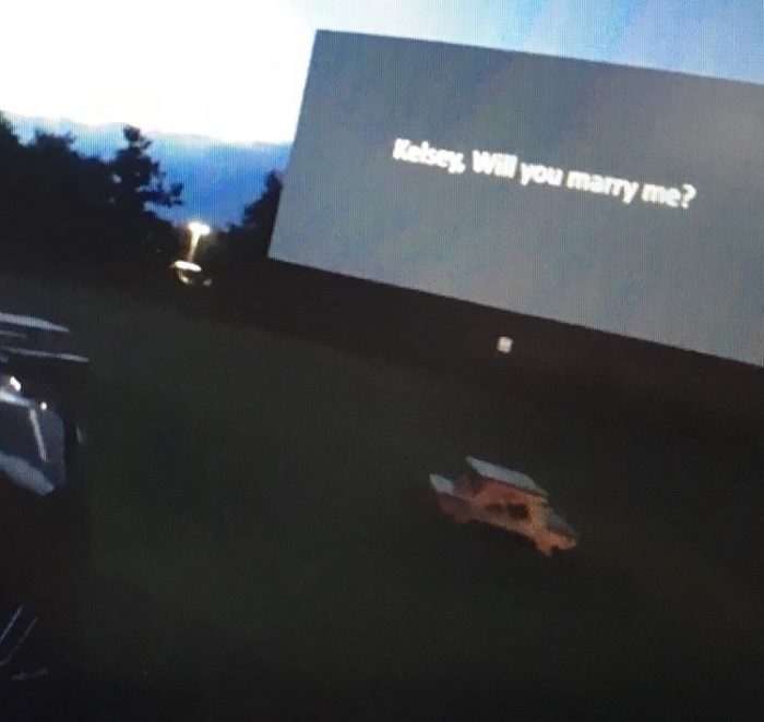 Marriage Proposal Ideas in Warwick Drive-In