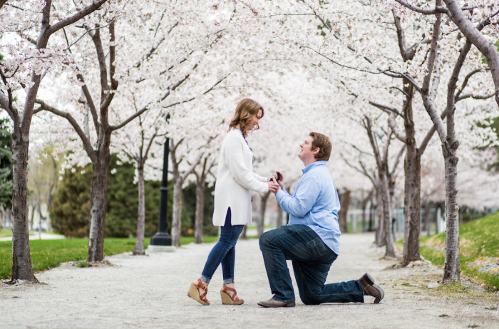 Megan and Carter's Engagement in Utah State Capitol