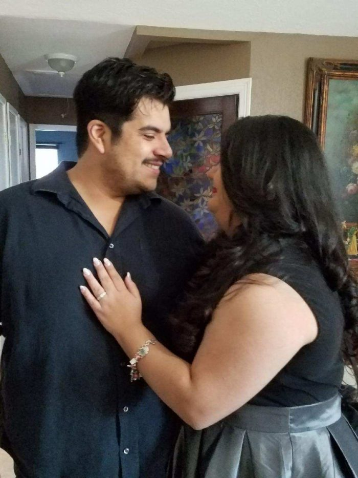 Kimberly and Jesse's Engagement in At his house