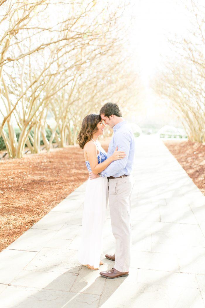 Rachel and Nolan's Engagement in Dallas Arboretum