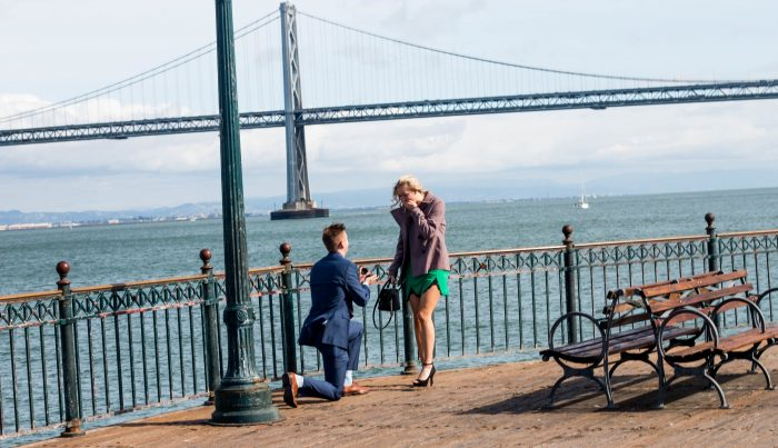 Nick and Delaynie's Engagement in San Francisco - Pier 7